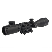 4-16X50EG Angled Integral Sunshade Riflescope with Rangefinding Graph Reticle Tri-Rail