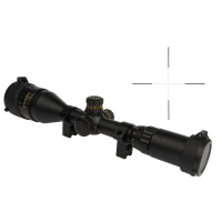 Sniper 3-9X50AOE Riflescope Red Green Illuminated Mil-Dot Reticle with Integral Sunshade