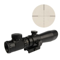 3-9X42EG Red Green Illuminated Angled Integral Sunshade Riflescope with QD Mount