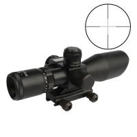2.5-10x40 Tactical Rifle Scope Mil-Dot Dual Illuminated with Red Laser