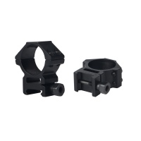 30mm See-Thru Medium Profile Dual Picatinny Scope Rings