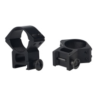 30mm See-Thru High Profile Dual Picatinny Scope Rings