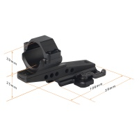 30mm Cantilever Quick Release Mount Single Ring