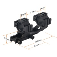 25.4mm/30mm Dual Ring Quick Release Cantilever Mount with Tri Picatinny Rail