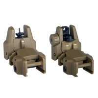 Flip-up Rifle SMG Front and Rear Sight DE