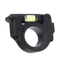 25.4/30mm Ring Mount With Bubble Level Black