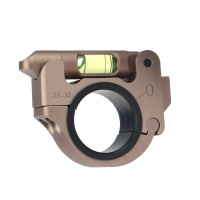 25.4/30mm Ring Mount With Bubble Level TAN