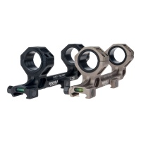 One Piece Bubble Level Picatinny Rail Dual Ring Mount Offeset for 25.4/30mm Scope TAN