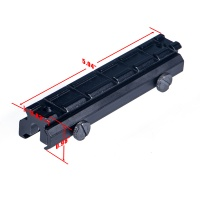 6 Slots Flat Top See-Thru Riser Mount for AR-15 M16 Rifle