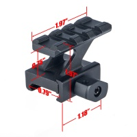 Z Type Riser QD 3-Slot Picatinny Rail Mount