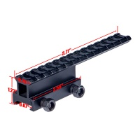 Extended Riser Mount Picatinny Rail Long 14 Slots