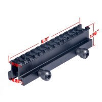 "1"" Riser Mount 14 Slots See-Thru Picatinny Rail Scope Mount"