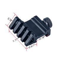 45 Degree Angle Offset Rail Mount QD Thumbscrew 4 Slots