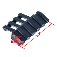45 Degree Angle Offset Mount Picatinny Low Profile Adaptor
