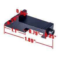 1-Slot 45 Degree Angle Offset Picatinny Rail Mount