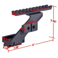 Universal Pistol Scope Mount Picatinny/Weaver Rail with Side Mount