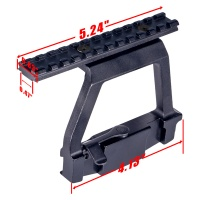 Aluminum Quick Detach AK Side Mounting Optics Rail