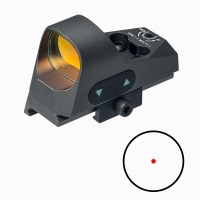 ANS Tactical 1x25 Mini Reflex Sight 3 MOA Red Dot Reticle with QD Riser Mount Grey