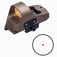 ANS Tactical 1x25 Mini Reflex Sight 3 MOA Red Dot Reticle with QD Riser Mount