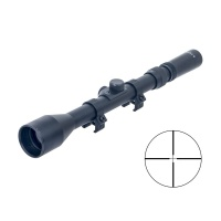 Tactical 3-7X28 Rifle Scope with Duplex Reticle with 11mm Rail Mont Rings