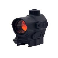 D10 Red Dot Sight 1.5 MOA Manual Key Switch with 20mm Riser Mount Black