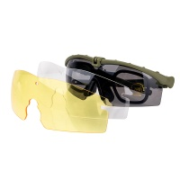 Adjustable Sports Glasses Tactical plastic glasses With Anti-Skid Glasses Strap for  Outdoor Sports Green