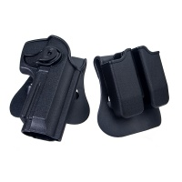 Polymer Retention Paddle Holster for Taurus PT92 M92  BK