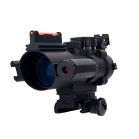 Hunting Riflescope 4X32 Red and Green illuminated scope with red Fiber optic sight