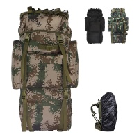 65L camouflage large capacity mountaineering backpack tactical camping backpack Oxford backpack