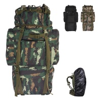 65L large capacity army military backpack travel backpack Oxford With Rain Cover for running climbing skiing