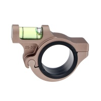 Anti Cant Bubble Level Ring Mount for 25.4mm 30mm Rifle Scope TAN