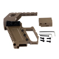 Tactical Glock Pistol Carbine Kit with Tri Rail Mount for G17 G18 G19 Series