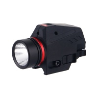 Tactical 150 lumens Red Laser White LED Flashlight Rail Mounted