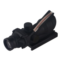 4X32 Tactical Scope Fiber Optics with Red Dual Illuminated Chevron Glass Etched Reticle