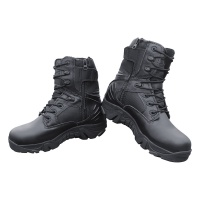 Tactical Boots Zip Leather Military Combat Boots