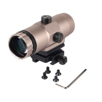 3x Tan Magnifier with Flip To Side Mount
