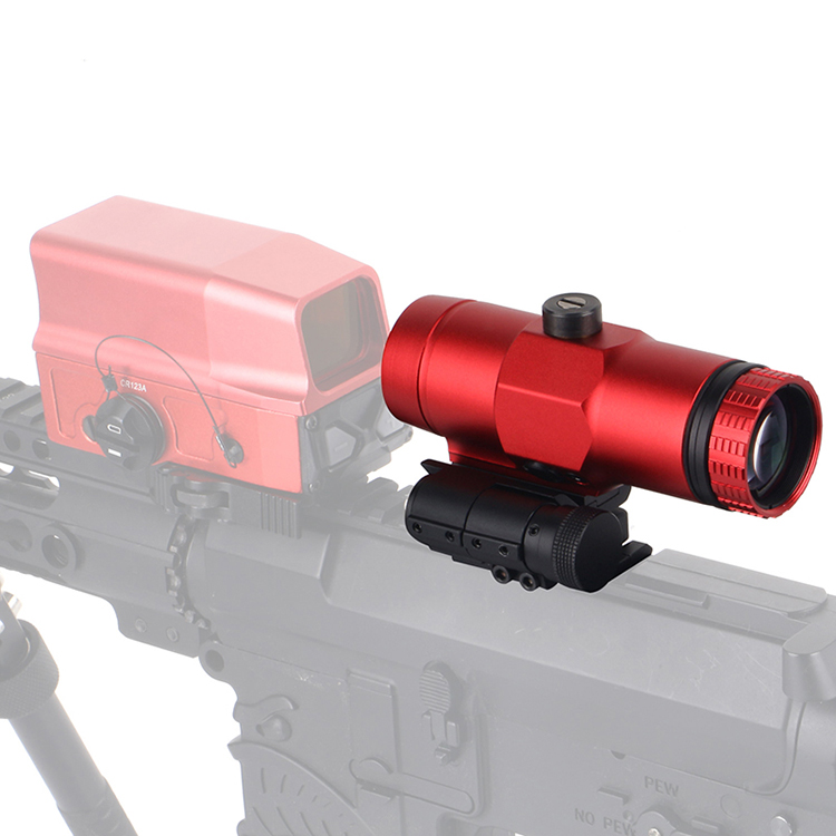 Best Rated 3x Red Magnifier with Flip Mount