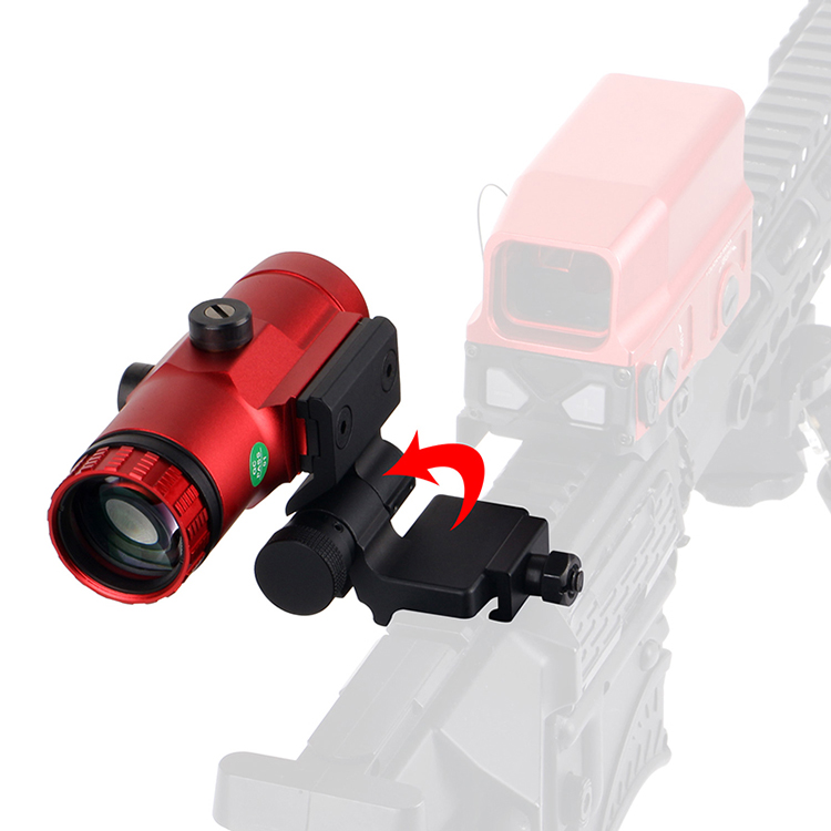 3x Red Magnifier with Switch To Side QD Mount